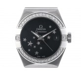 Omega Constellation Co-Axial Brushed Stahl Diamond Automatik Chronometer 27mm UVP 7.100,- Ungetragen
