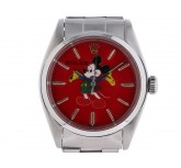 Rolex Oyster Precision Mickey Mouse Stahl Handaufzug Oyster Armband 34mm Ref.6426 Vintage Bj.1970 orig.Box