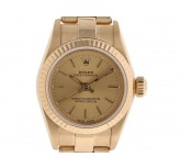 Rolex Oyster Perpetual Lady 18kt Gelbgold Automatik Oyster Armband 26mm Ref.67198 Vintage Bj.1991 orig.Box wie Neu