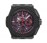 Hublot Big Bang Ferrari Carbon Red Magic Automatik Chronograph Armband Kautschuk Leder Limitiert 44,5mm Vintage Bj.2014 Box&Pap. Full Set mit Zertifikat über 24.700,-€