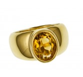 Ring Design Citrin 18kt Gelbgold UVP 1.890,-