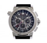 Carl F. Bucherer Patravi Travel Tec GMT Stahl Automatik Chronometer 47 mm wie Neu Box&Pap.