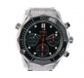 Omega Seamaster Diver 300m Co-Axial Chronograph Stahl Automatik 42mm Schwarz UVP 4.700,- Ungetragen
