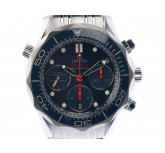 Omega Seamaster Diver 300m Co-Axial Chronograph Stahl Automatik 42mm Blau UVP 4.700,- Ungetragen