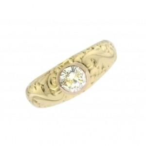 Ring Solitär 14kt Gelbgold 1ct Diamond