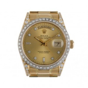 Rolex Day Date Gelbgold Diamond Automatik Präsident Armband 36mm
