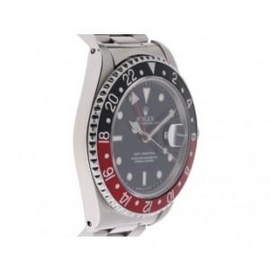 Rolex GMT Master I schwarz rot Stahl Automatik Oyster Armband 40mm