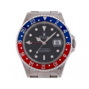 Rolex GMT Master II Pepsi blau rot Stahl Automatik 40mm