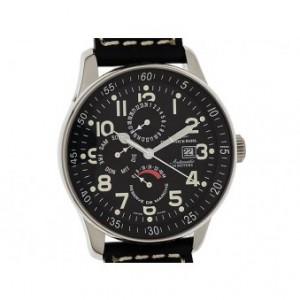 Zeno Watch Basel GMT Power Reserve Day Date Edelszahl Automatik 44mm