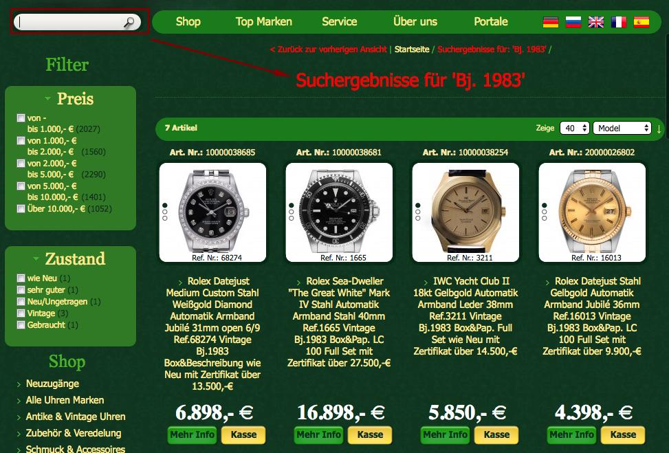 Rolex aus Geburtsjahr bei watch.de