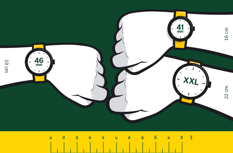 Die passende Uhrengroesse