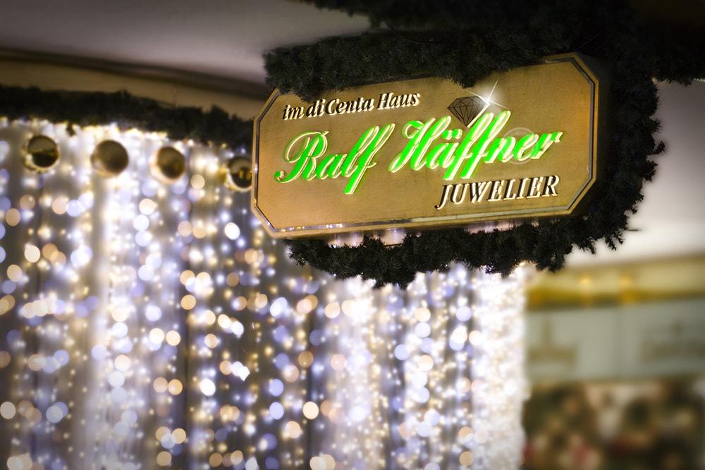 Weihnachtsdeko Juwelier Ralf Häffner Stuttgart