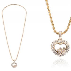Herzkette Gold Geschenk zum Valentinstag