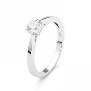 Diamantring Verlobungsring aus 18 Karat Weißgold