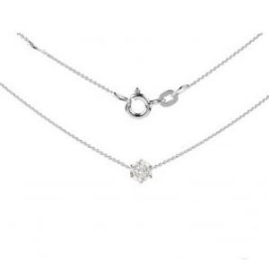 Halskette mit Diamant Solitärschmuck
