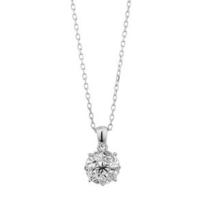 Solitär Halskette mit neuen Diamanten