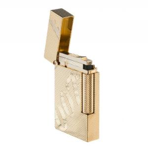 S.T. Dupont Feuerzeug Gold geöffnet