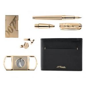S.T. Dupont James Bond 007 Set aus Feuerzeug, Brieftasche, Manschettenknöpfe, Zigarrencutter, Schreibgeräte