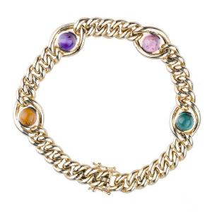 Armband aus Gold mit Edelsteinen