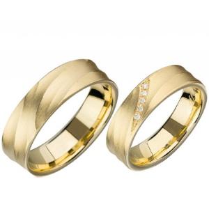 Fischer Trauring / Ehering Set Gold