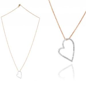 Halskette aus Rosegold mit Herzanhänger