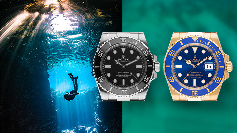 Taucheruhr Rolex Submariner Date und Submariner No Date