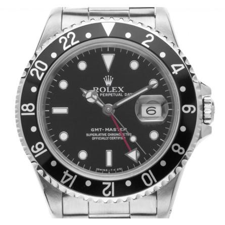 Rolex GMT Master schwarz Stahl Automatik Armband Oyster