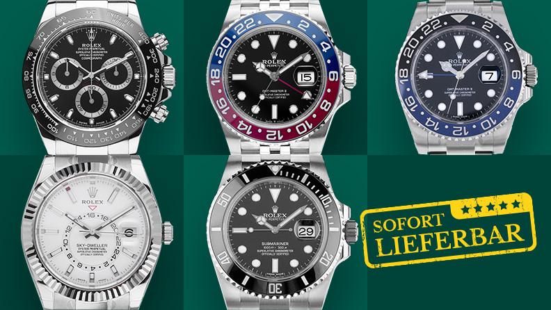 Rolex Uhren sofort lieferbar auf www.watch.de