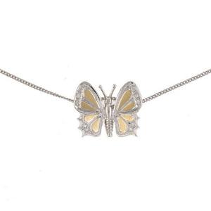 Anhänger Schmetterling mit Halskette
