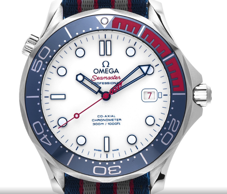 Sommeruhr mit Textilband: Omega Seamaster Professional 007