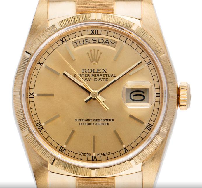 Rolex Day Date in Gelbgold als Sommeruhr