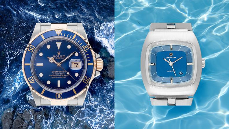 Uhren mit blauem Zifferblatt auf watch.de