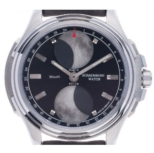 Uhr ohne Ziffern: Schaumburg Urbanic Double Moon