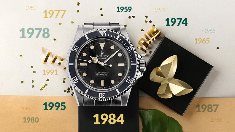 Rolex & Co. aus dem gewünschten Jahrgang