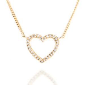 Geschenkidee zum Valentinstag: Palido Halskette Anhänger Herz 14kt Gelbgold