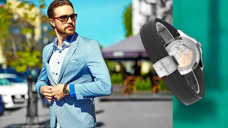 Uhren Armband für den Sommer Kautschuk
