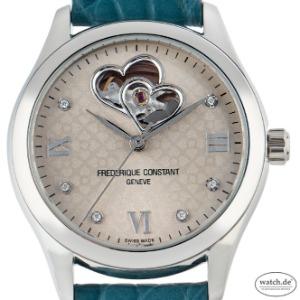 Frederique Constant Heart Beat Ladies Stahl Diamanten Automatik