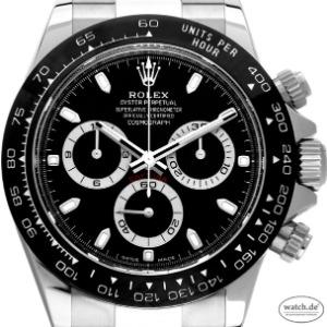 Rolex Daytona Keramik Black Cosmograph Stahl Automatik Chronograph 40mm