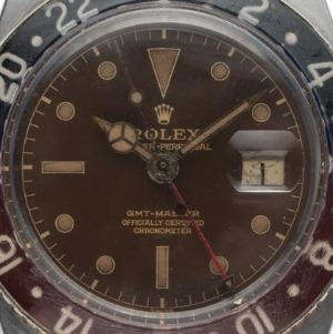 Rolex GMT Master Bakelite Tropical Brown Roulette Stahl Automatik, Bj. 1959