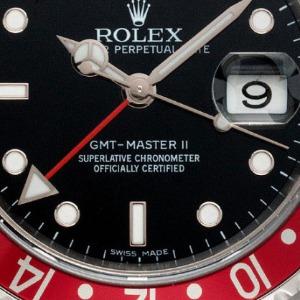 Mit Stick Dial: Rolex GMT Master Pepsi Stahl Automatik, Bj. 2010
