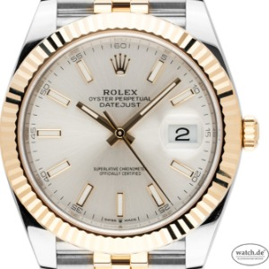 Rolex Datejust 41 Stahl Gelbgold Automatik Armband Jubilé, Bj. 2020