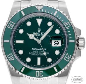 Rolex Submariner Date LV Verde Stahl Keramik Automatik 40mm