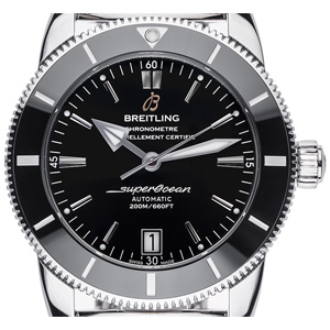 Breitling Superocean Héritage II Black Stahl Automatik Chronometer