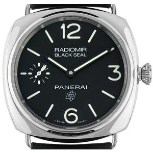 Panerai Radiomir Black Seal Marina Logo Stahl Handaufzug
