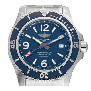 Breitling Superocean II Stahl Automatik (Gewicht der Uhr inkl. Armband 216 g)