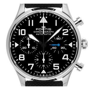 Fortis Pilot Classic Stahl Automatik Chronograph