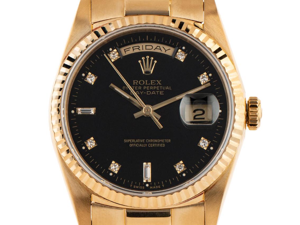 Rolex Day Date 18kt Gelbgold Diamanten