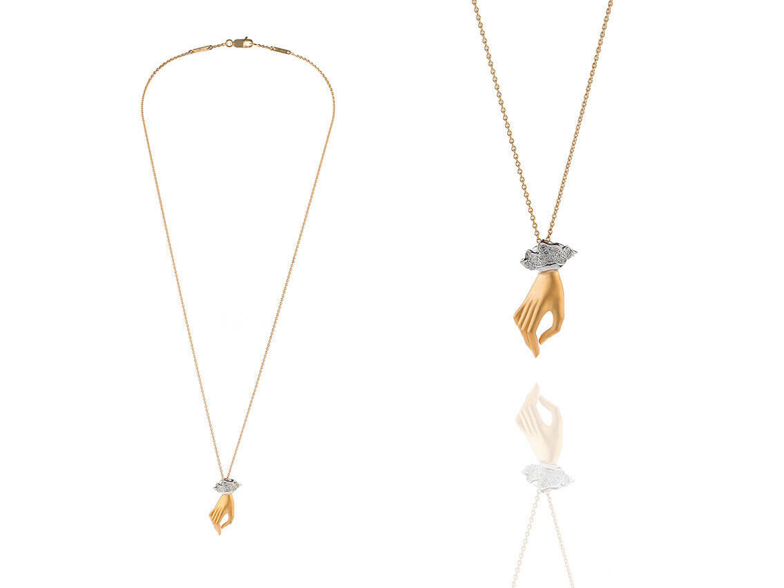 Carrera y Carrera Halskette, Gold/Diamanten