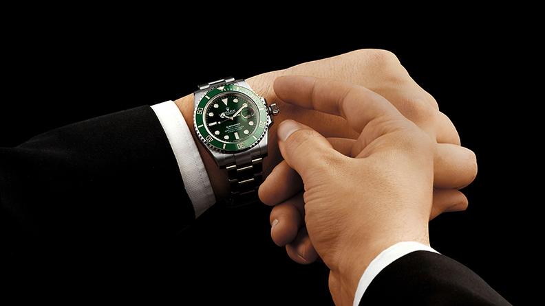 Rolex im Grün