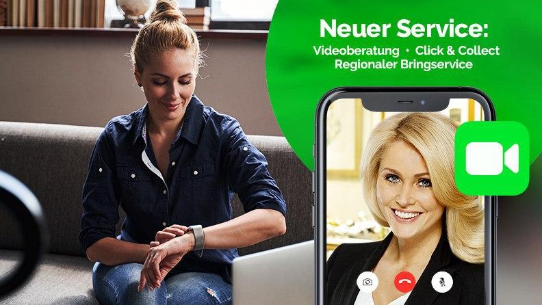 Videoberatung, Click&Collect, Regionaler Bringservice
